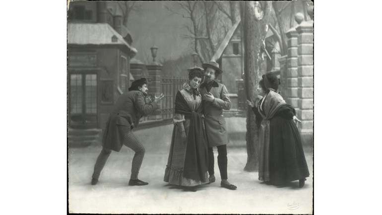 A scene from La bohème by Giacomo Puccini, The Barrière d'Enfer, Act III, 1896