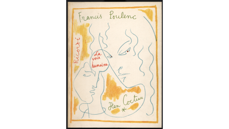 La voix humaine by Francis Poulenc, cover of the printed edition, 1959