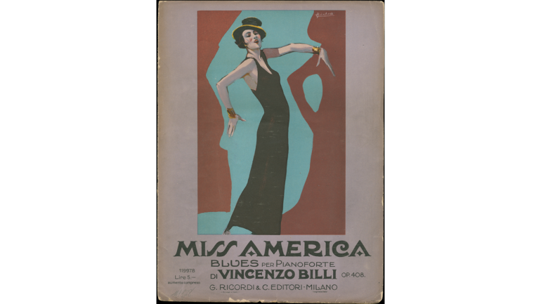 Miss America by Vincenzo Billi, cover of the printed edition, 1925