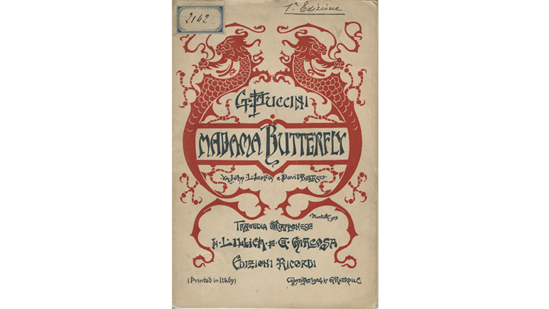 Madama butterfly by Giacomo Puccini, libretto of the world premiere, Milan, Teatro alla Scala, 1904
