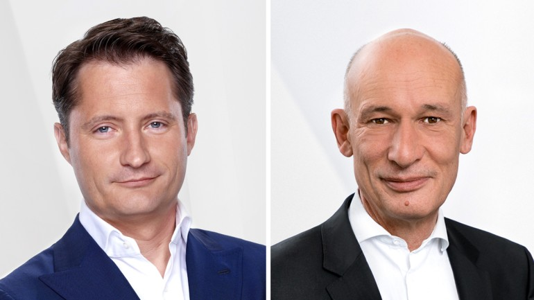 Bert Habets (© RTL Group) and Axel Hentrei (© Bertelsmann Printing Group) (f.l.t.r.)