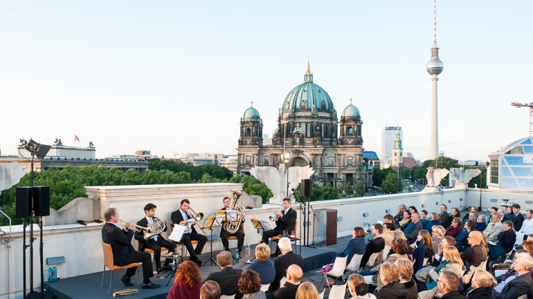 Musical soirée with the Brass Ensemble of the German Symphony Orchestra in 2014