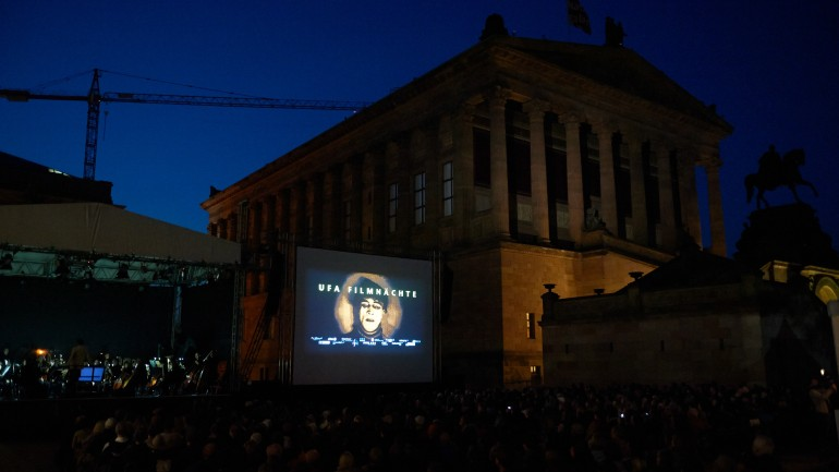 UFA Film Nights 2014 in the Kolonnadenhof courtyard on Museum Island