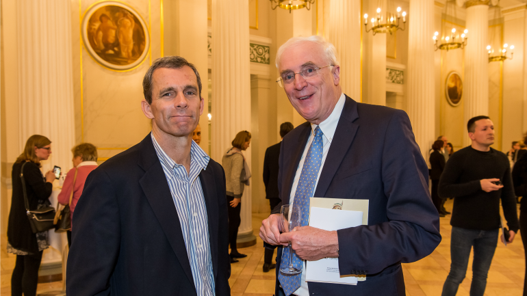 Terry McCarthy (left), Executive Director of the American Academy, and H.E. Michael Collins, Ambassador of Ireland,