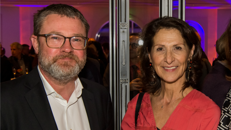 Christian Krug, Editor-in-Chief New Business Areas at Gruner + Jahr, and RTL correspondent Antonia Rados