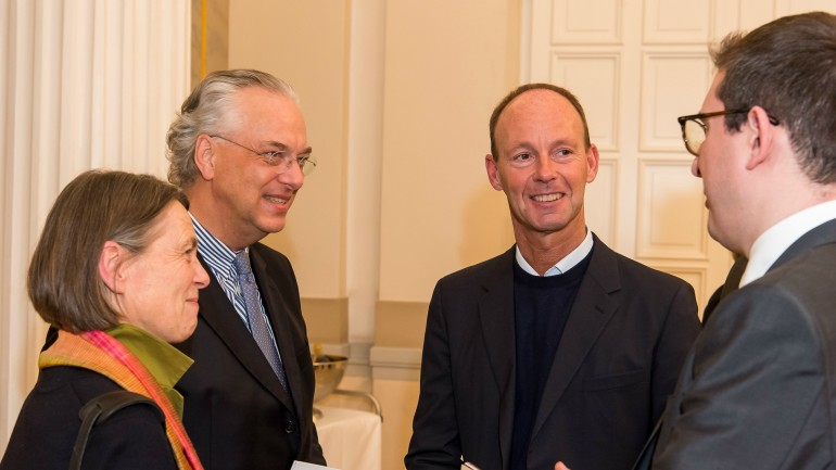 Bertelsmann Chairman & CEO Thomas Rabe (2nd from left) with the Director General of the Berlin State Museums - Prussian Cultural Heritage Foundation, Prof. Dr. Michael Eissenhauer (left), Dr. Veronika Braunfels, and Pierluigi Ledda, Director of the Archivio Ricordi